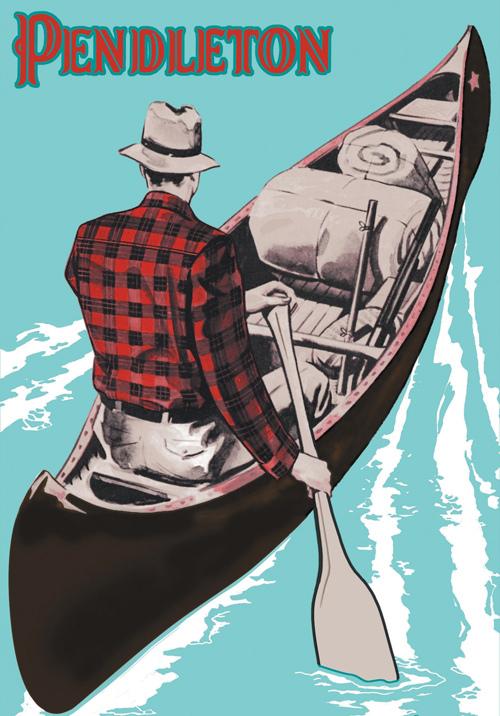 pendleton-vintage-canoe-poster